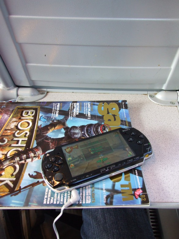 PSP and a copy of GamesTM; what more do you need on a train journey?