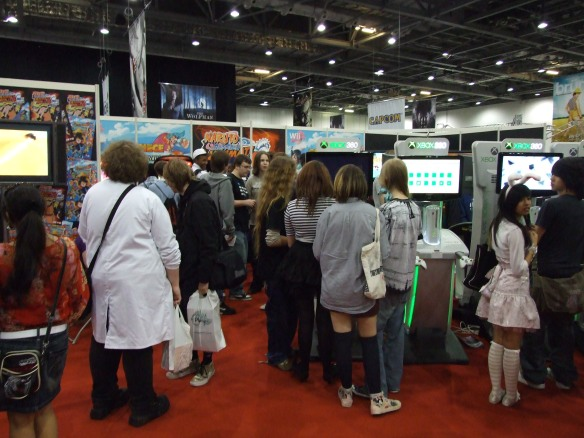 A host of anime themed games were being promoted