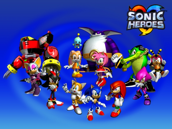 12 playable characters in Sonic Heroes?!
