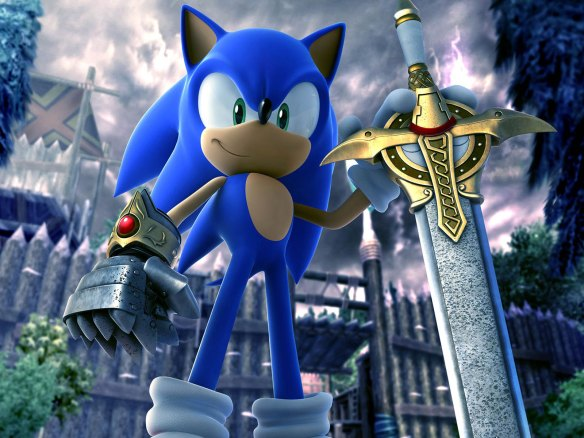 Why would Sonic ever need a sword?!
