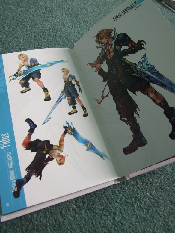 A double page spread featuring Final Fantasy X hero, Tidus